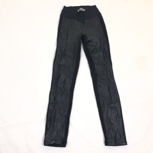 PAIGE Jeans Faux Leather Skinny Pull On Legging